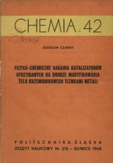 Fizyko-chemiczne badania katalizatorów otrzymanych na drodze modyfikowania żelu krzemionkowego tlenkami metalu