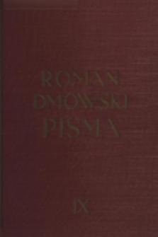 Pisma. T. 9, Polityka narodowa w odbudowanem państwie : (mowy i rozprawy polityczne z lat 1919-1934)