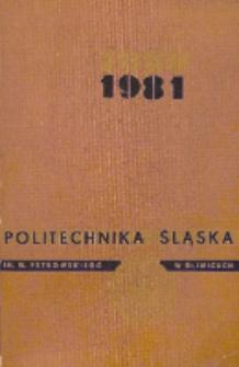 Politechnika Śląska im. Wincentego Pstrowskiego w Gliwicach 1980-1981