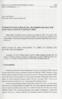 Wykorzystanie notacji ASN.1 do kodowania danych sygnalizacyjnych w sieciach ISDN