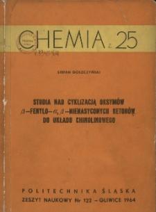 Studia nad cyklizacją oksymów β-fenylo-α, β-nienasyconych ketonów do układu chinolinowego