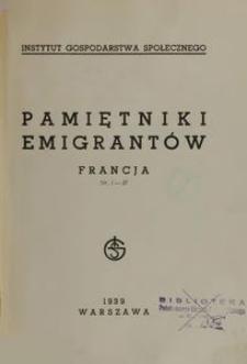Pamiętnik emigrantów : Francja Nr 1-37