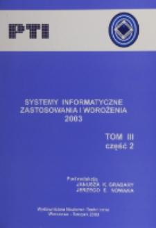 Systemy informatyczne : zastosowania i wdrożenia 2003. Cz. 2