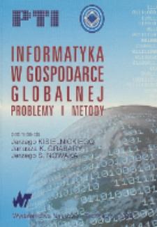 Informatyka w gospodarce globalnej : problemy i metody