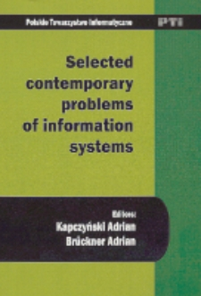 Selected contemporary problems of information systems