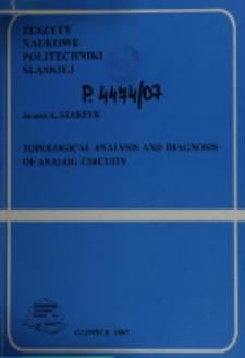 Topological analysis and diagnosis of analog circuits