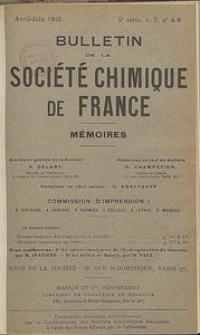 Bulletin de la Société Chimique de France. Mémoires, 5 série, T. 7, n. 4-6