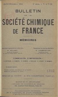 Bulletin de la Société Chimique de France. Mémoires, 5 série, T. 7, n. 7-12