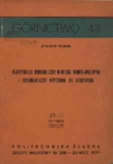Klasyfikacja hydrauliczna w obiegu wodno-mułowym i technologiczne kryterium jej stosowania (skrót)