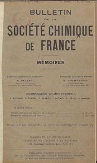 Bulletin de la Société Chimique de France. Mémoires, 5 série, T. 8, n. 1-2