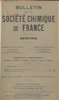 Bulletin de la Société Chimique de France. Mémoires, 5 série, T. 8, n. 3-4