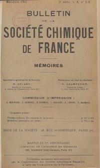 Bulletin de la Société Chimique de France. Mémoires, 5 série, T. 8, n. 5-6