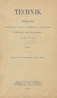 """Technik : podręcznik opracowany według niemieckiego pierwowzoru, wydawanego przez Stowarzyszenie """"Hütte"""". T. 1, Dział 1. Matematyka"""