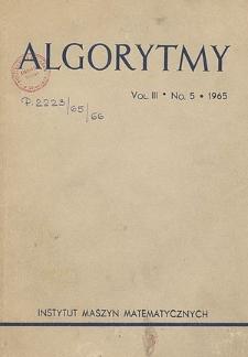Algorytmy, Vol. 3, Nr 6