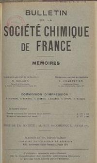 Bulletin de la Société Chimique de France. Mémoires, 5 série, T. 8, n. 7-8