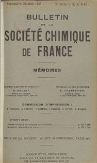 Bulletin de la Société Chimique de France. Mémoires, 5 série, T. 8, n. 9-10