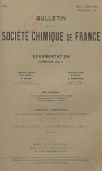 Bulletin de la Société Chimique de France. Documentation, Fascicules n. 5-6