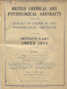 British Chemical and Physiological Abstracts. Abstracts A and C. Index 1944, Index of Authors