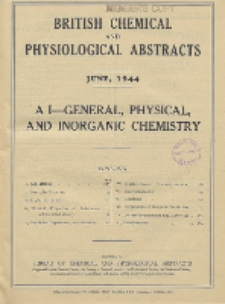 British Chemical and Physiological Abstracts. A. Pure Chemistry and Physiology. I. General, Physical, and Inorganic Chemistry, June