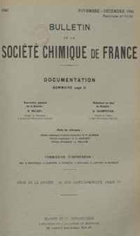 Bulletin de la Société Chimique de France. Documentation, Fascicules n. 11-12