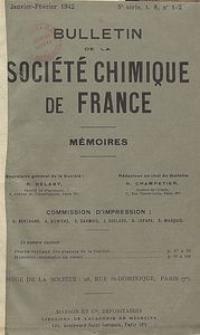 Bulletin de la Société Chimique de France. Mémoires, 5 série, T. 9, n. 1-2