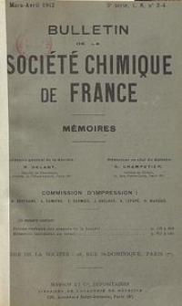 Bulletin de la Société Chimique de France. Mémoires, 5 série, T. 9, n. 3-4