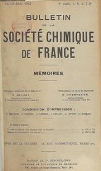 Bulletin de la Société Chimique de France. Mémoires, 5 série, T. 9, n. 7-8