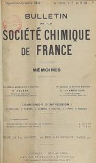 Bulletin de la Société Chimique de France. Mémoires, 5 série, T. 9, n. 9-10
