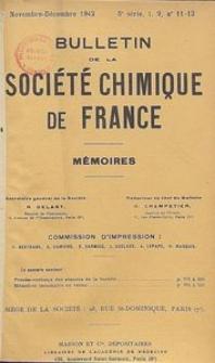 Bulletin de la Société Chimique de France. Mémoires, 5 série, T. 9, n. 11-12
