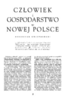 Człowiek i gospodarstwo w Nowej Polsce