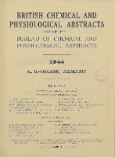 British Chemical and Physiological Abstracts. A. Pure Chemistry and Physiology. II. Organic Chemistry, Foreword