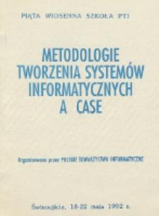 Metodologie tworzenia systemów informatycznych a CASE