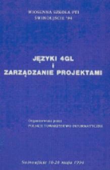 Języki 4GL i zarządzanie projektami