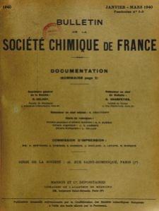 Bulletin de la Société Chimique de France. Documentation, Fascicules n. 1-3