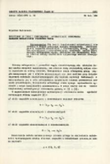 Przyczynek do teorii kompleksowej automatyzacji sterowania zakładem mechanicznej przeróbki węgla