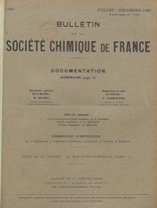 Bulletin de la Société Chimique de France. Documentation, Fascicules n. 7-12
