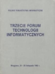 Trzecie Forum Technologii Informatycznych