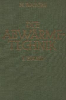 Die Abwärmetechnik. Bd. 1, Grundlagen