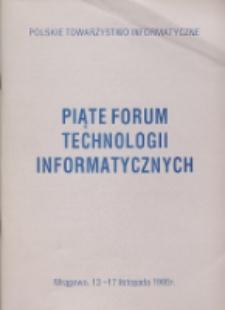 Piąte Forum Technologii Informatycznych