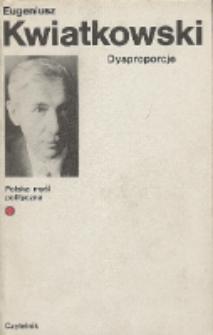 Dysproporcje : rzecz o Polsce przeszłej i obecnej