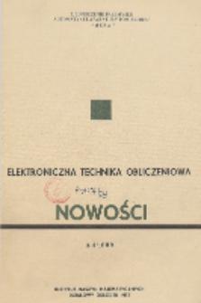 Elektroniczna Technika Obliczeniowa. Nowości, R. 8, Nr 3-4