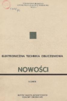 Elektroniczna Technika Obliczeniowa. Nowości, R. 8, Nr 2