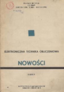 Elektroniczna Technika Obliczeniowa. Nowości, R. 8, Nr 1