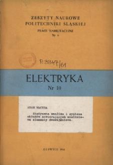 Statyczna analiza i synteza układów zawierających nieliniowe elementy dwuwejściowe