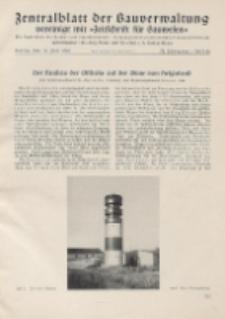 Zentralblatt der Bauverwaltung vereinigt mit Zeitschrift für Bauwesen : mit Nachrichten der Reichs- und Staatsbehörden. Jg. 58, H. 28