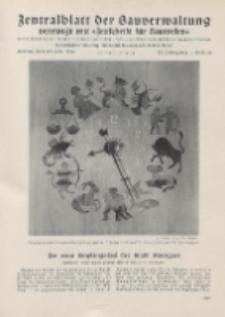Zentralblatt der Bauverwaltung vereinigt mit Zeitschrift für Bauwesen : mit Nachrichten der Reichs- und Staatsbehörden. Jg. 58, H. 30