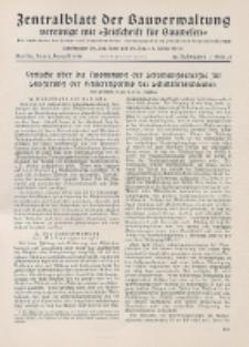 Zentralblatt der Bauverwaltung vereinigt mit Zeitschrift für Bauwesen : mit Nachrichten der Reichs- und Staatsbehörden. Jg. 58, H. 31