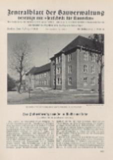 Zentralblatt der Bauverwaltung vereinigt mit Zeitschrift für Bauwesen : mit Nachrichten der Reichs- und Staatsbehörden. Jg. 58, H. 33