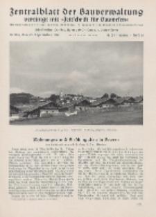 Zentralblatt der Bauverwaltung vereinigt mit Zeitschrift für Bauwesen : mit Nachrichten der Reichs- und Staatsbehörden. Jg. 58, H. 38