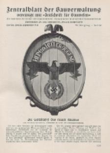 Zentralblatt der Bauverwaltung vereinigt mit Zeitschrift für Bauwesen : mit Nachrichten der Reichs- und Staatsbehörden. Jg. 58, H. 39